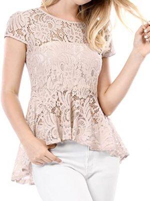blusa crema de encaje