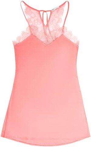 camisón rosa flores de encaje
