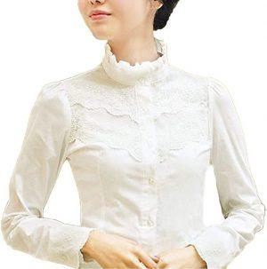 camisa encaje crudo victoriana