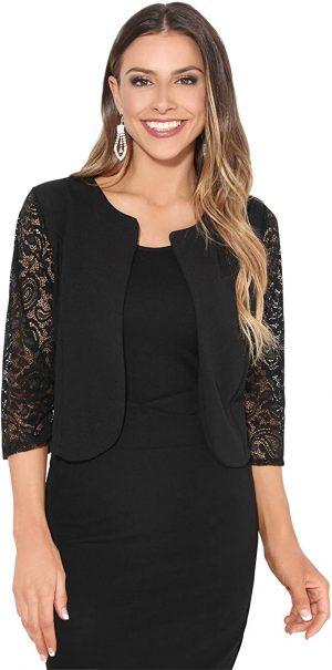 chaqueta de encaje negro