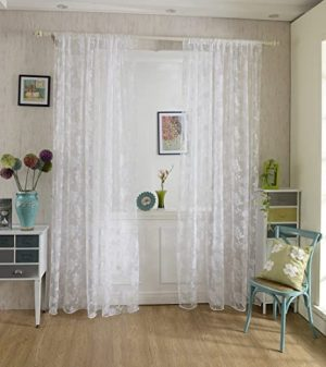 cortina de encaje patron peonia