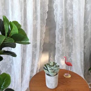 cortina encaje salon