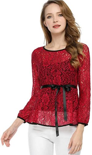 jersey rojo de encaje