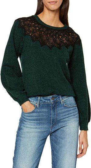 jersey verde con encaje