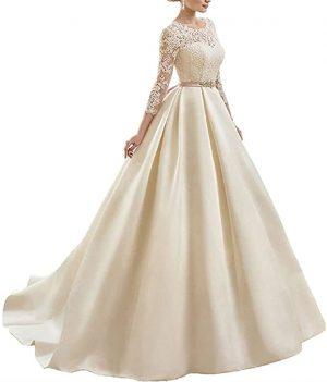 vestido novia encaje crudo