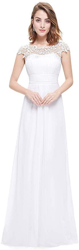 vestido novia encaje largo