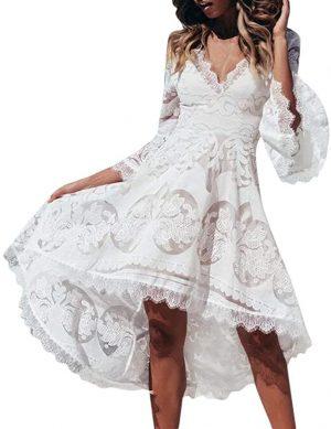 vestido novia encaje mangas