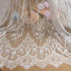 Encaje floral chantilly para vestido de novia/boda
