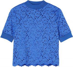 camisa con encaje azul marca amazon